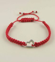 Sweetheart Braided Friendship Bracelet In Red by fourseven