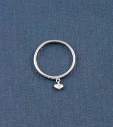 Sweetheart Charm Ring in Silver