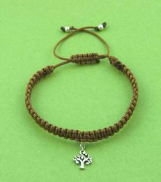 Simply Charming Friendship Bracelet In Brown With Believe In Magic Unicorn Charm by fourseven