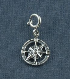 Fourseven Compass Charm in Silver