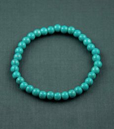 Turquoise Bead Bracelet by fourseven