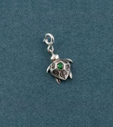 Sterling Silver Cruisin the Current Sea Turtle Charm by fourseven