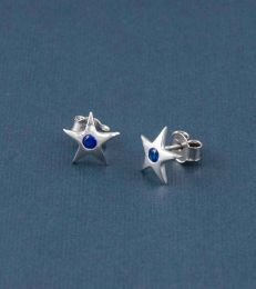 Twinkling Star Earrings-Blue by fourseven