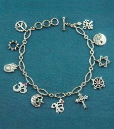 Sterling Silver Unity Charm Bracelet by fourseven