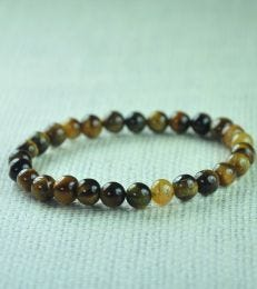 Tiger's Eye Bead Bracelet for Men