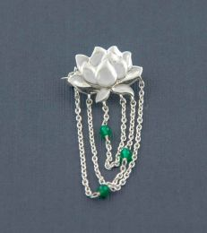 Fourseven Water Lily Brooch in Silver