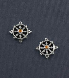 Wheel of Life Stud Earrings by fourseven