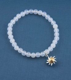 Sunshine Charm Bracelet with White Onyx by fourseven