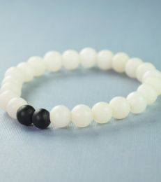 fourseven White Accents Glass Bead Bracelet