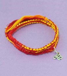 Wrap Around Moli Bracelet with Ek Onkar Charm