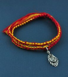 Wrap Around Moli Bracelet with Mor Pankh Charm