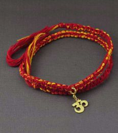 Wrap Around Moli Bracelet with Om Charm in Gold
