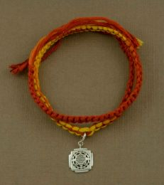 Wrap Around Moli Bracelet With Shri Yantra Charm by fourseven