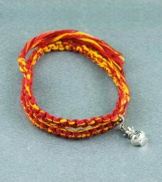 Wrap Around Moli Bracelet with Kalash Charm