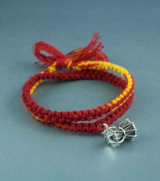 Wrap Around Moli Bracelet with Large Damru Charm