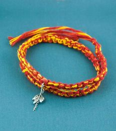 Wrap Around Moli Bracelet with Tulsi Charm