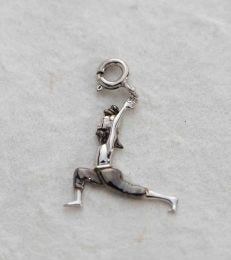 Yogi Warrior Pose Charm in Silver fourseven