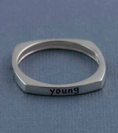 Young Wild Free Message Ring by fourseven