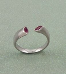 Zaynah Gemstone Lacuna Ring in Ruby