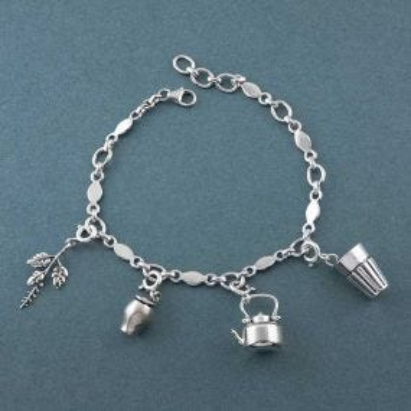 Chai Lover Silver Charm Bracelet