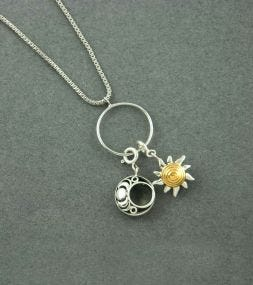 Sun and Moon Charm Necklace by fourseven