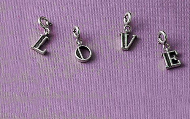 Buy Letter charms in silver