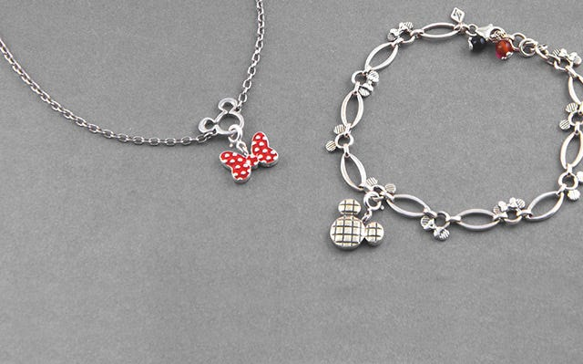 Silver charms with bead bracelets for women