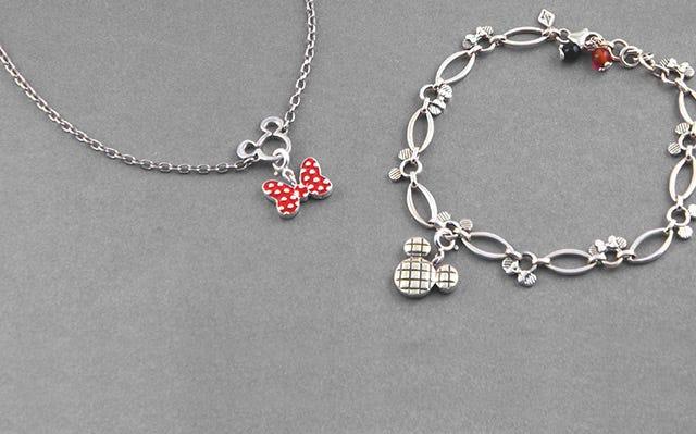 Disney Mickey Minnie Marquise Charm Bracelet