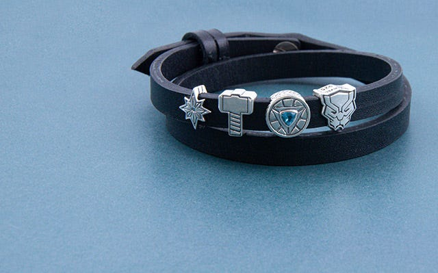 Faux Leather Bracelet with Marvel Beads