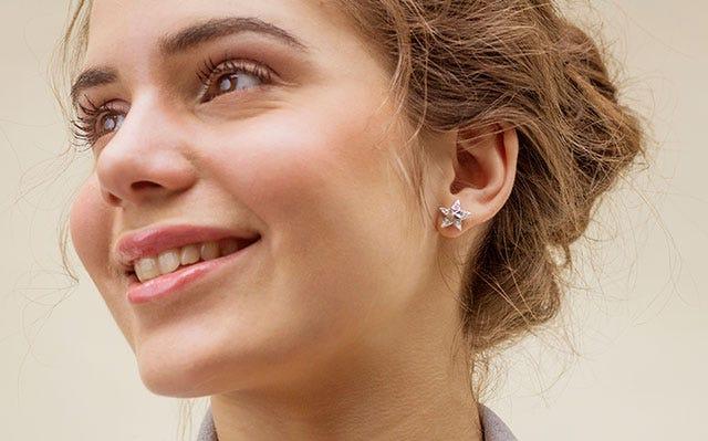 Gifts under 1000 - Starry starry night stud earrings in silver