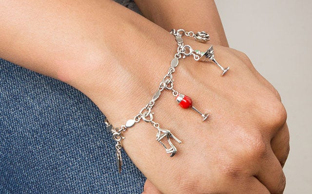 Just for fun charms bracelet in silver