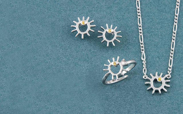 A sunny day jewellery set for girls