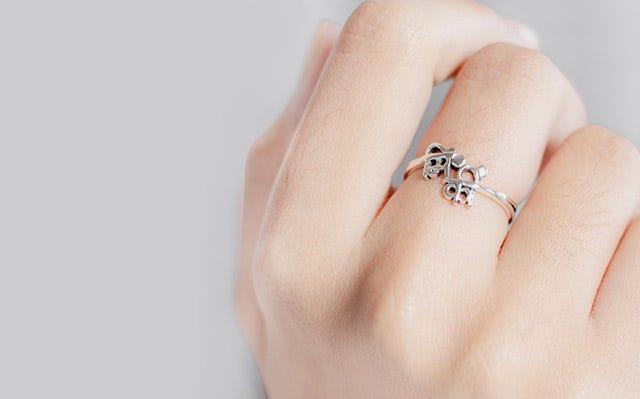 Disney Mickey ring in silver