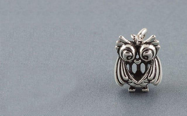 silver Owl charm
