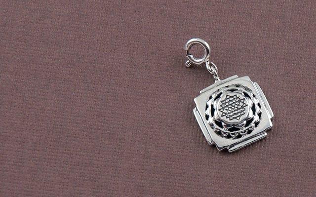 Silver Shri Yantra Charm