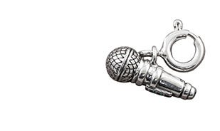 Sing your heart out Microphone charm