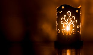 Silver-plated diwali tealight holder