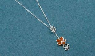 Les fleurs plumeria drop necklace for women