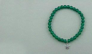 One of a kind Snowflake Bead Bracelet