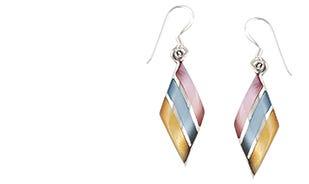 Sterling Shells Layered Drop Dangler Earrings
