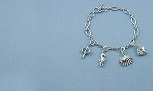 The Ocean is Calling Disney Ariel Charm Bracelet