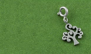 Silver Tree of Life Charm