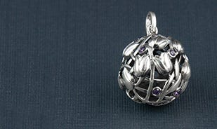 Tulips Pendant in Silver