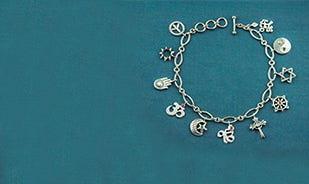 Unity Charm Bracelet In Silver