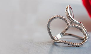 Heart to heart Adjustable ring