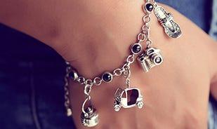 Silver Wanderlust Charm Bracelet