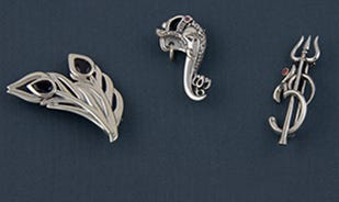 Silver Brooches Collection for men