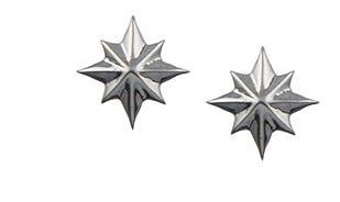 Disney Captain Marvel stud earrings in silver