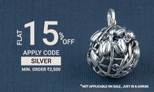 Flat 15% off on order of Rs. 2500 or above