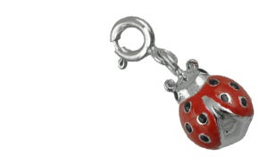 Lucky ladybug charm in silver